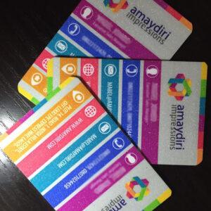 Glitter/3D Business Cards