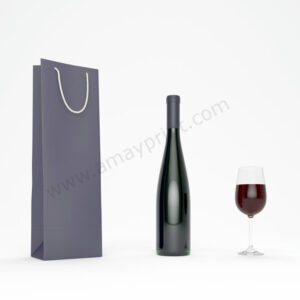 "Wine Bags with Rope Handles (12""X 4""X 3."