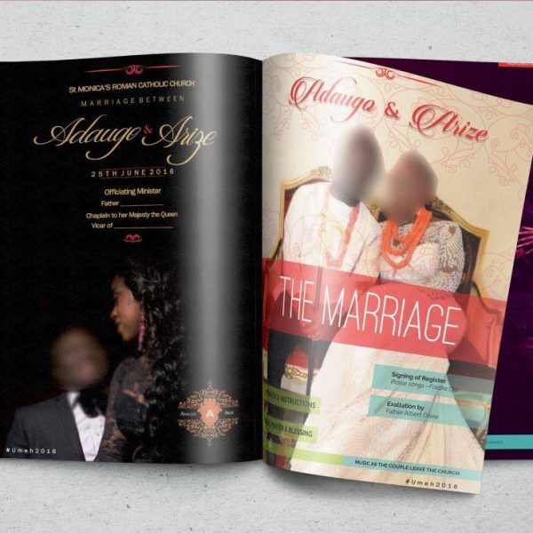 magazine wedding program printers in lagos print business cards